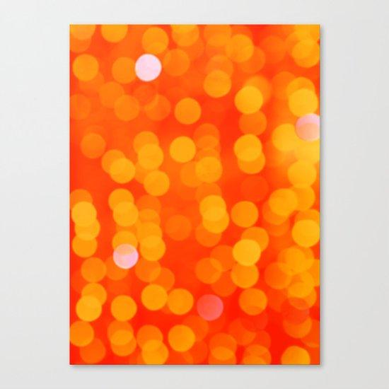 Orange Disco Fever Canvas Print