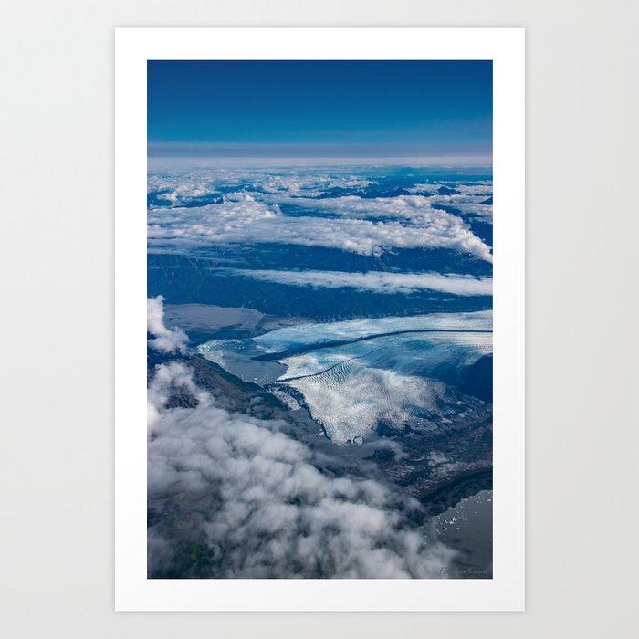 Aerial Glacier Five - Alaska Art Print