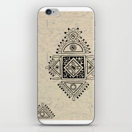 Indian Tribal Folk Art 2 iPhone Skin