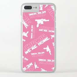 Chewie We're Home Pattern Clear iPhone Case