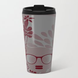 Afro Diva : Burgundy Sophisticated Lady  Travel Mug
