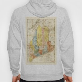 Map of the State of Maine (1843) Hoody