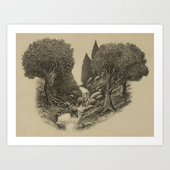 Bear Creek  Art Print