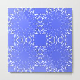 Periwinkle Blue Color Burst Metal Print