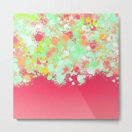 paint splatter on gradient pattern tgpi Metal Print