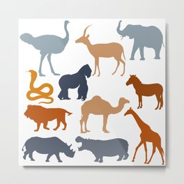 Safari Pattern Metal Print