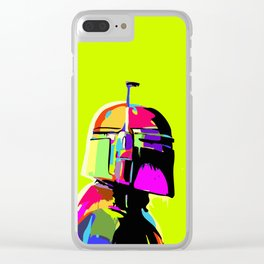 Boba Fett Abstract Star.Wars Pop Art Painting Clear iPhone Case
