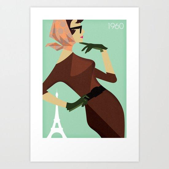 Paris 1960 Art Print