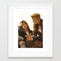 stucky Framed Art Prints featuring Stucky, Warm Afternoon by MMCoconut