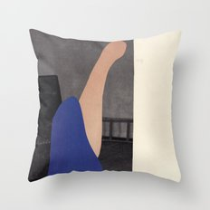 Pink and blue creature Throw Pillow