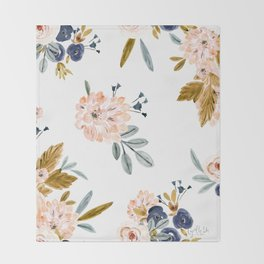 Mason Vintage Roses Throw Blanket