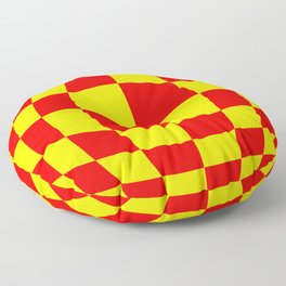 Lime And Orange Floor Pillow
