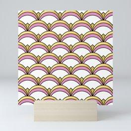 Pink and Gold Art Deco Pattern Mini Art Print