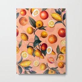 Vintage Fruit Pattern XXV Metal Print