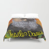 darwin Duvet Covers featuring Charles Darwin by Ibbanez