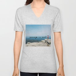 recovery is real Unisex V-Neck