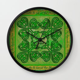 Celtic Irish Clover Duvet Wall Clock