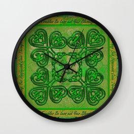 Celtic Irish Clover Duvet Wall Clock