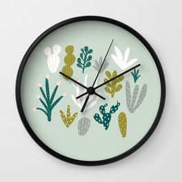 Succulent + Cacti Dreams Wall Clock