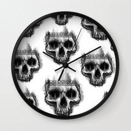 Aztec skull Wall Clock