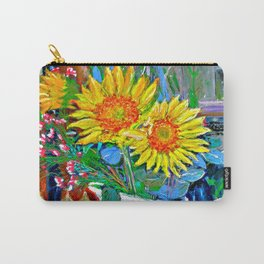 Flowers In The Den Carry-All Pouch