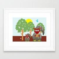 kangaroo Framed Art Prints featuring Kangaroo by Design4u Studio