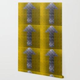 Industrial Arrow Tread Plate - Up Wallpaper