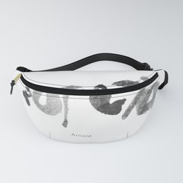 Name: Arnold. Free hand writing in Chinese Calligraphy Fanny Pack