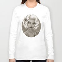silent Long Sleeve T-shirts featuring Silent Stargazer by Wendy Stephens