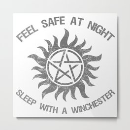 SPN Sleep With A Winchester Metal Print