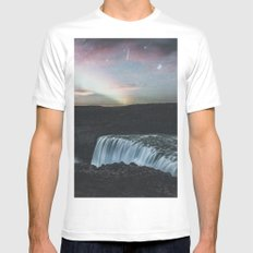 Dettifoss, Iceland II MEDIUM White Mens Fitted Tee