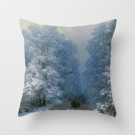 Winter Landscape by Ivan Aivazovsky Throw Pillow