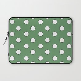 Green Pastel Polka Dots Laptop Sleeve