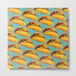 Taco Pattern Metal Print