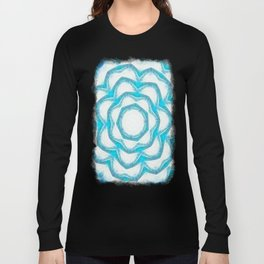 Cyan Glow Kaleidoscope 18 Long Sleeve T-shirt