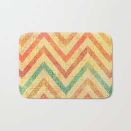 vintage stripes in warm colours Bath Mat