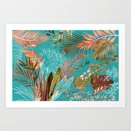 Tropical Foliage 08 Art Print
