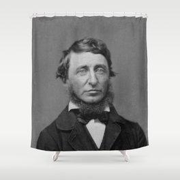 Benjamin Maxham - portrait of Henry David Thoreau Shower Curtain
