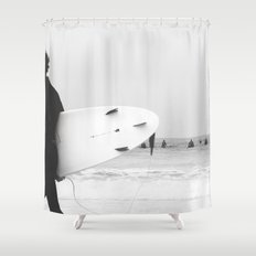 catch a wave II Shower Curtain