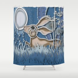 Rabbit Layer No. 2 Shower Curtain