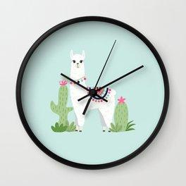 Cute Desert Alpaca Wall Clock