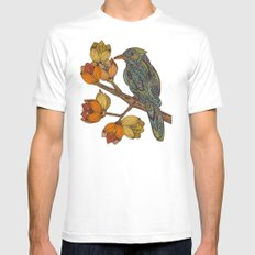 Bravebird White Mens Fitted Tee X-LARGE