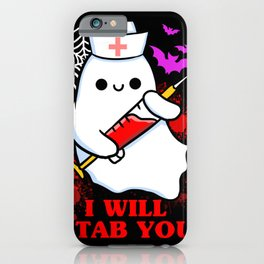 I Will Stab You Halloween Gift iPhone Case
