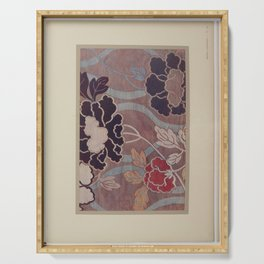 Verneuil - Japanese paper and fabric designs (1913) - 65: Peonies Serving Tray