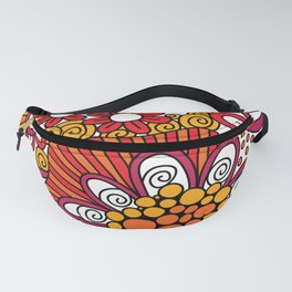 Bright Heart Doodle Fanny Pack