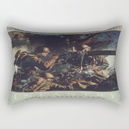 Vintage poster - U.S. Infantry Rectangular Pillow