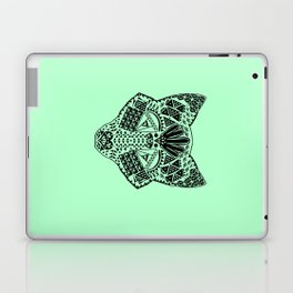 Mint Wolf Head Laptop & iPad Skin