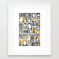 twin peaks Framed Art Prints featuring Twin Peaks by Bill Pyle