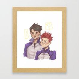 a strange pair Framed Art Print