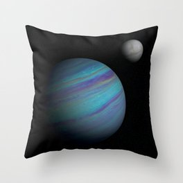 Kepler 421b, An Ice Giant Throw Pillow